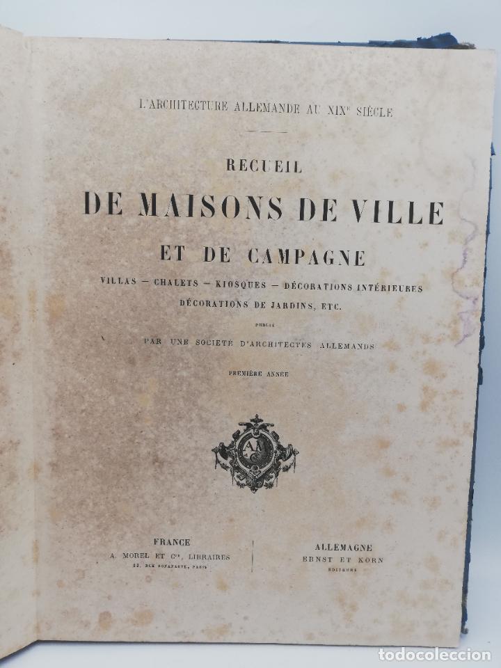 Libros antiguos: L´ARCHITECTURE ALLEMANDE AU XIX SIECLE. RECUELL DE MASIONS DE VILLE ET DE CAMPAGNE. 9 TOMOS.VER.LEER - Foto 6 - 267903714