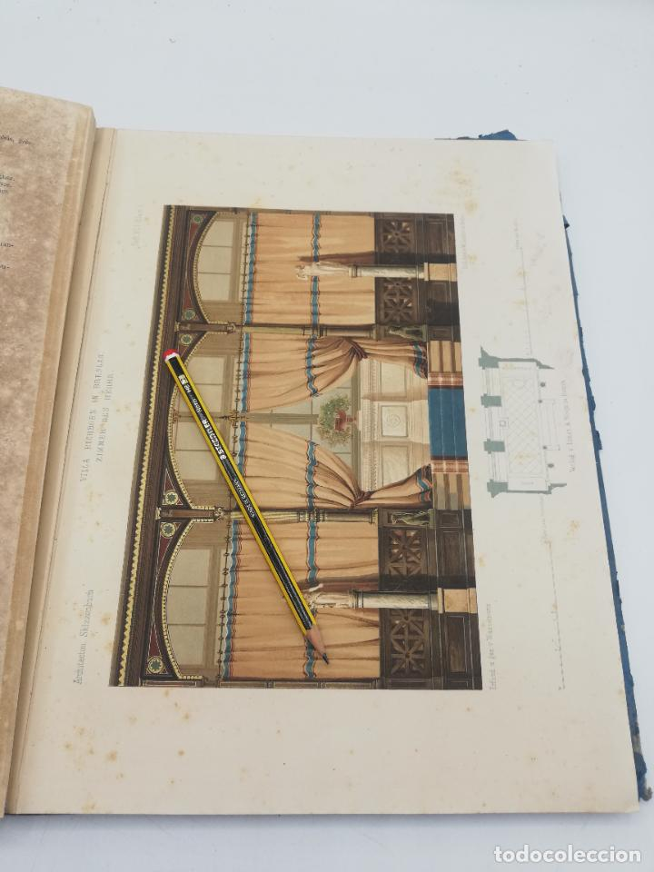 Libros antiguos: L´ARCHITECTURE ALLEMANDE AU XIX SIECLE. RECUELL DE MASIONS DE VILLE ET DE CAMPAGNE. 9 TOMOS.VER.LEER - Foto 8 - 267903714