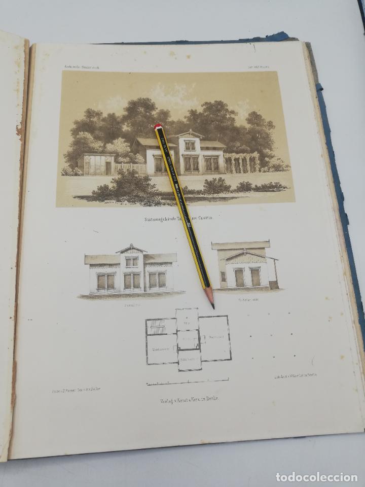 Libros antiguos: L´ARCHITECTURE ALLEMANDE AU XIX SIECLE. RECUELL DE MASIONS DE VILLE ET DE CAMPAGNE. 9 TOMOS.VER.LEER - Foto 39 - 267903714
