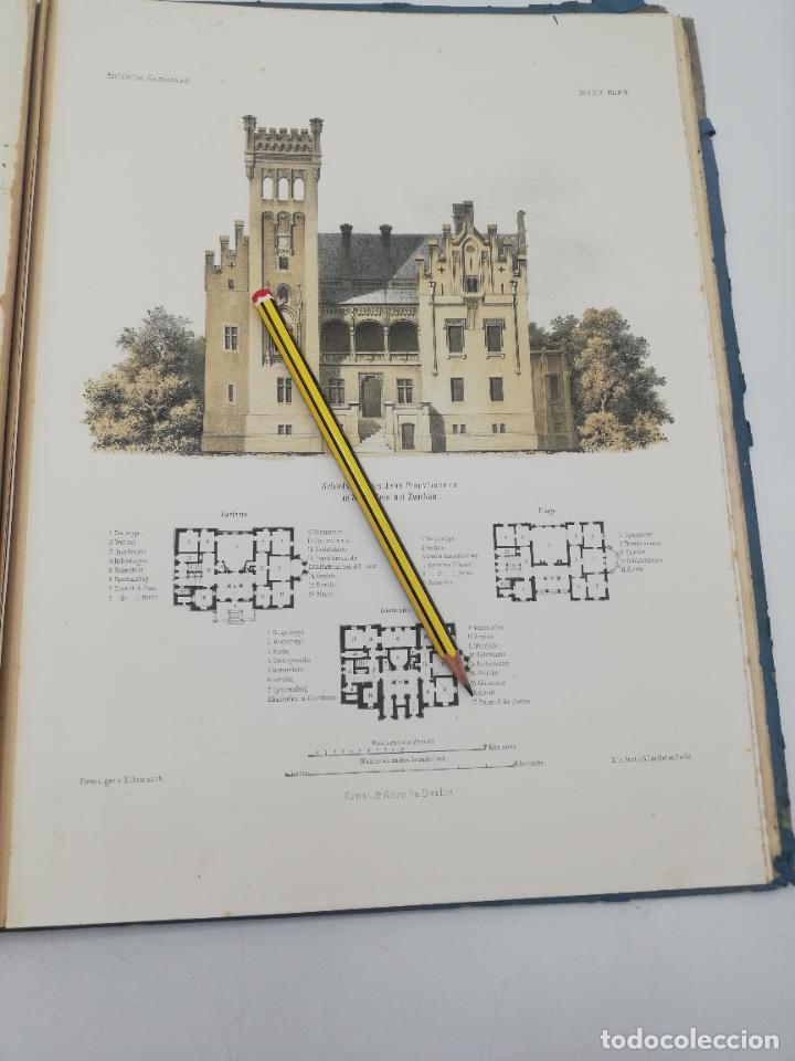 Libros antiguos: L´ARCHITECTURE ALLEMANDE AU XIX SIECLE. RECUELL DE MASIONS DE VILLE ET DE CAMPAGNE. 9 TOMOS.VER.LEER - Foto 40 - 267903714