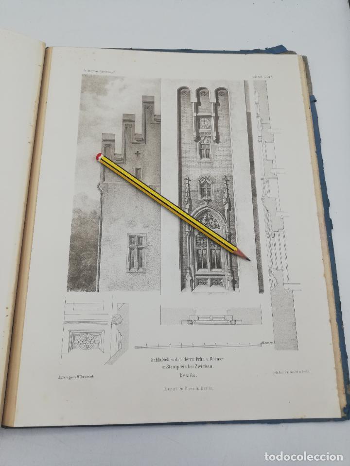 Libros antiguos: L´ARCHITECTURE ALLEMANDE AU XIX SIECLE. RECUELL DE MASIONS DE VILLE ET DE CAMPAGNE. 9 TOMOS.VER.LEER - Foto 41 - 267903714