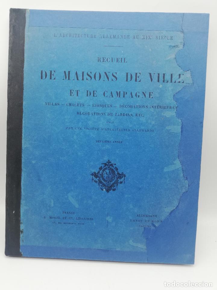 Libros antiguos: L´ARCHITECTURE ALLEMANDE AU XIX SIECLE. RECUELL DE MASIONS DE VILLE ET DE CAMPAGNE. 9 TOMOS.VER.LEER - Foto 46 - 267903714