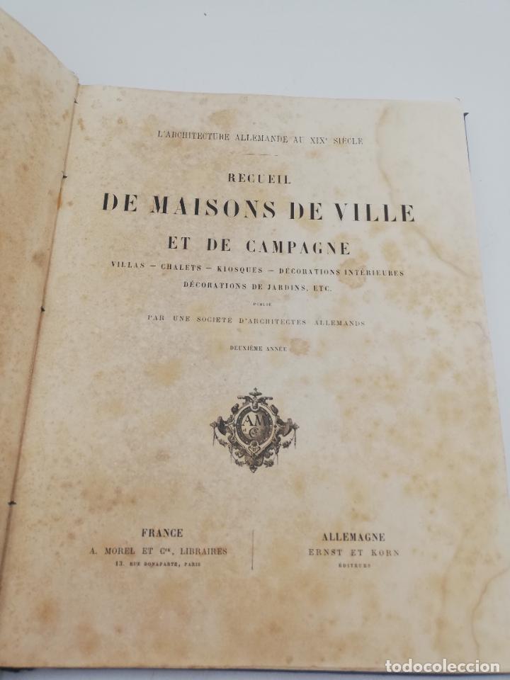 Libros antiguos: L´ARCHITECTURE ALLEMANDE AU XIX SIECLE. RECUELL DE MASIONS DE VILLE ET DE CAMPAGNE. 9 TOMOS.VER.LEER - Foto 48 - 267903714