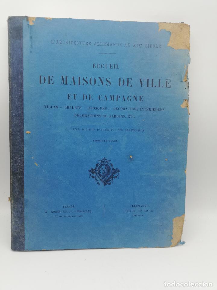 Libros antiguos: L´ARCHITECTURE ALLEMANDE AU XIX SIECLE. RECUELL DE MASIONS DE VILLE ET DE CAMPAGNE. 9 TOMOS.VER.LEER - Foto 87 - 267903714