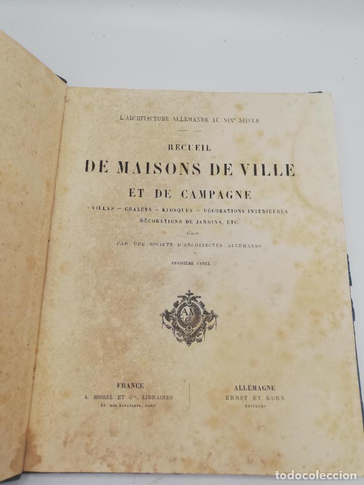 Libros antiguos: L´ARCHITECTURE ALLEMANDE AU XIX SIECLE. RECUELL DE MASIONS DE VILLE ET DE CAMPAGNE. 9 TOMOS.VER.LEER - Foto 89 - 267903714
