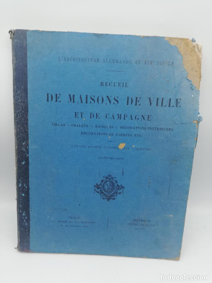 Libros antiguos: L´ARCHITECTURE ALLEMANDE AU XIX SIECLE. RECUELL DE MASIONS DE VILLE ET DE CAMPAGNE. 9 TOMOS.VER.LEER - Foto 124 - 267903714