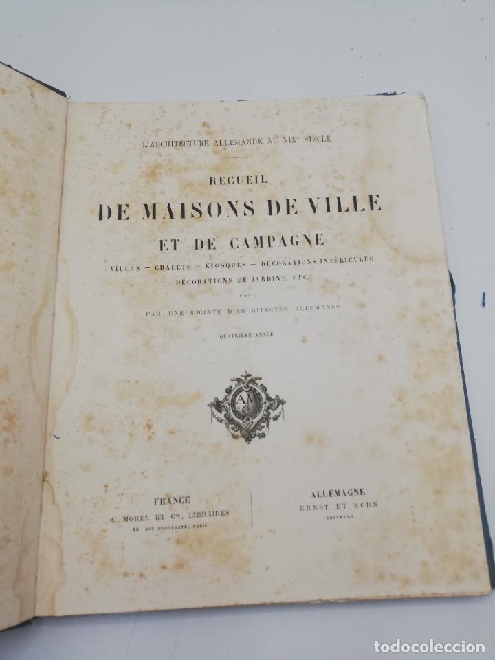 Libros antiguos: L´ARCHITECTURE ALLEMANDE AU XIX SIECLE. RECUELL DE MASIONS DE VILLE ET DE CAMPAGNE. 9 TOMOS.VER.LEER - Foto 126 - 267903714