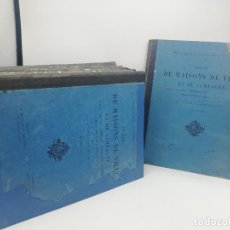 Libros antiguos: L´ARCHITECTURE ALLEMANDE AU XIX SIECLE. RECUELL DE MASIONS DE VILLE ET DE CAMPAGNE. 9 TOMOS.VER.LEER. Lote 267903714