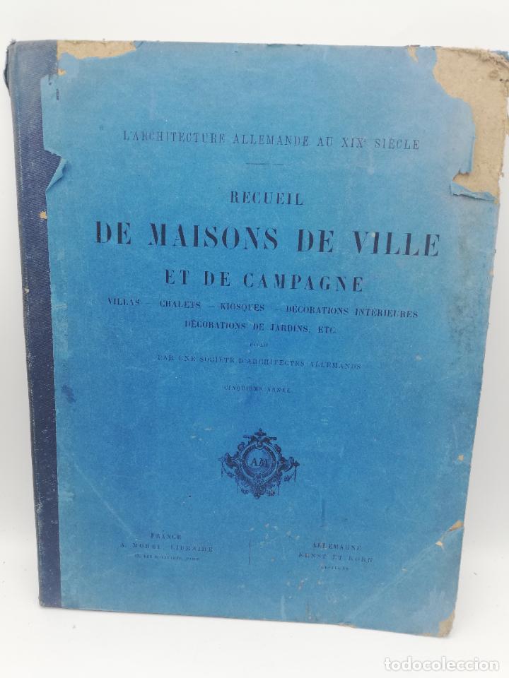 Libros antiguos: L´ARCHITECTURE ALLEMANDE AU XIX SIECLE. RECUELL DE MASIONS DE VILLE ET DE CAMPAGNE. 9 TOMOS.VER.LEER - Foto 163 - 267903714