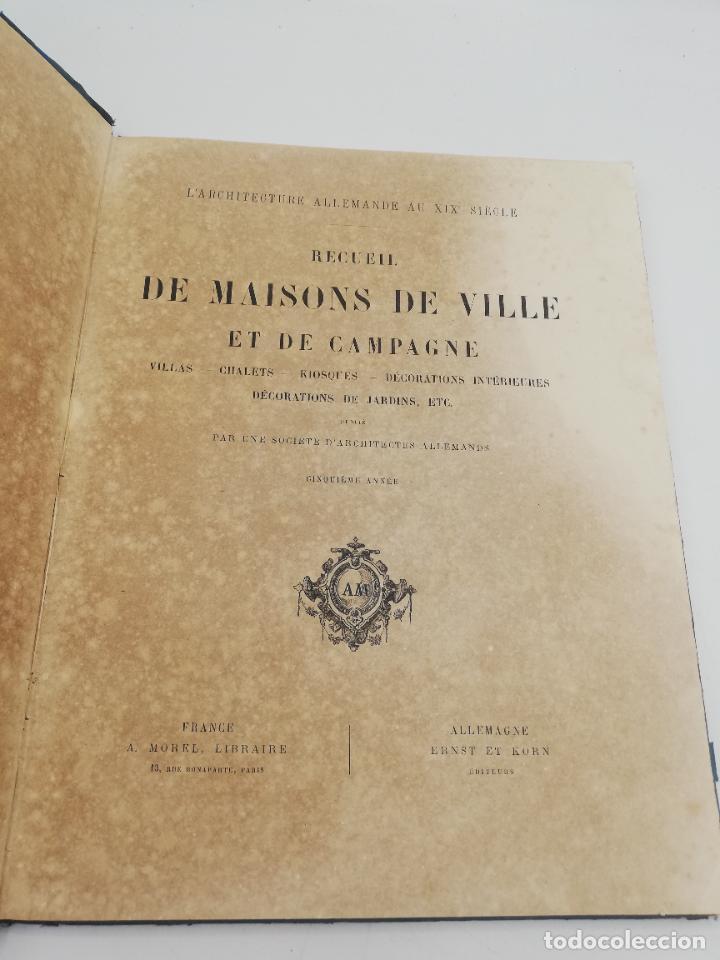 Libros antiguos: L´ARCHITECTURE ALLEMANDE AU XIX SIECLE. RECUELL DE MASIONS DE VILLE ET DE CAMPAGNE. 9 TOMOS.VER.LEER - Foto 165 - 267903714