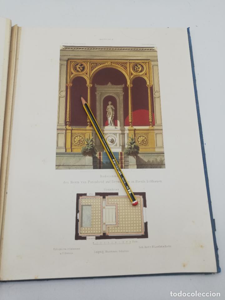 Libros antiguos: L´ARCHITECTURE ALLEMANDE AU XIX SIECLE. RECUELL DE MASIONS DE VILLE ET DE CAMPAGNE. 9 TOMOS.VER.LEER - Foto 179 - 267903714