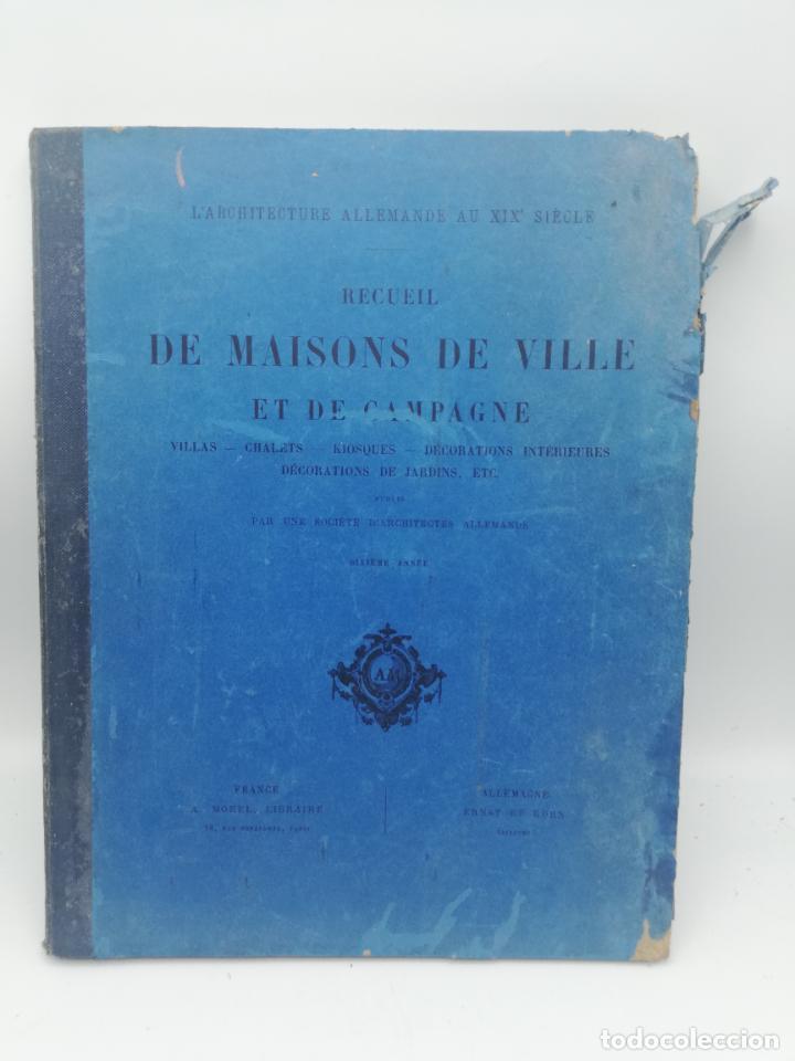 Libros antiguos: L´ARCHITECTURE ALLEMANDE AU XIX SIECLE. RECUELL DE MASIONS DE VILLE ET DE CAMPAGNE. 9 TOMOS.VER.LEER - Foto 204 - 267903714