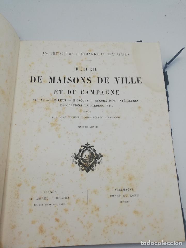 Libros antiguos: L´ARCHITECTURE ALLEMANDE AU XIX SIECLE. RECUELL DE MASIONS DE VILLE ET DE CAMPAGNE. 9 TOMOS.VER.LEER - Foto 206 - 267903714