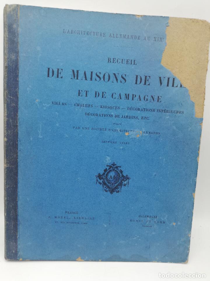 Libros antiguos: L´ARCHITECTURE ALLEMANDE AU XIX SIECLE. RECUELL DE MASIONS DE VILLE ET DE CAMPAGNE. 9 TOMOS.VER.LEER - Foto 241 - 267903714