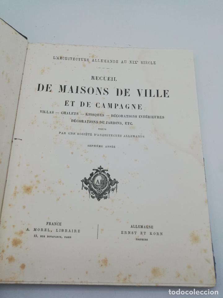 Libros antiguos: L´ARCHITECTURE ALLEMANDE AU XIX SIECLE. RECUELL DE MASIONS DE VILLE ET DE CAMPAGNE. 9 TOMOS.VER.LEER - Foto 243 - 267903714