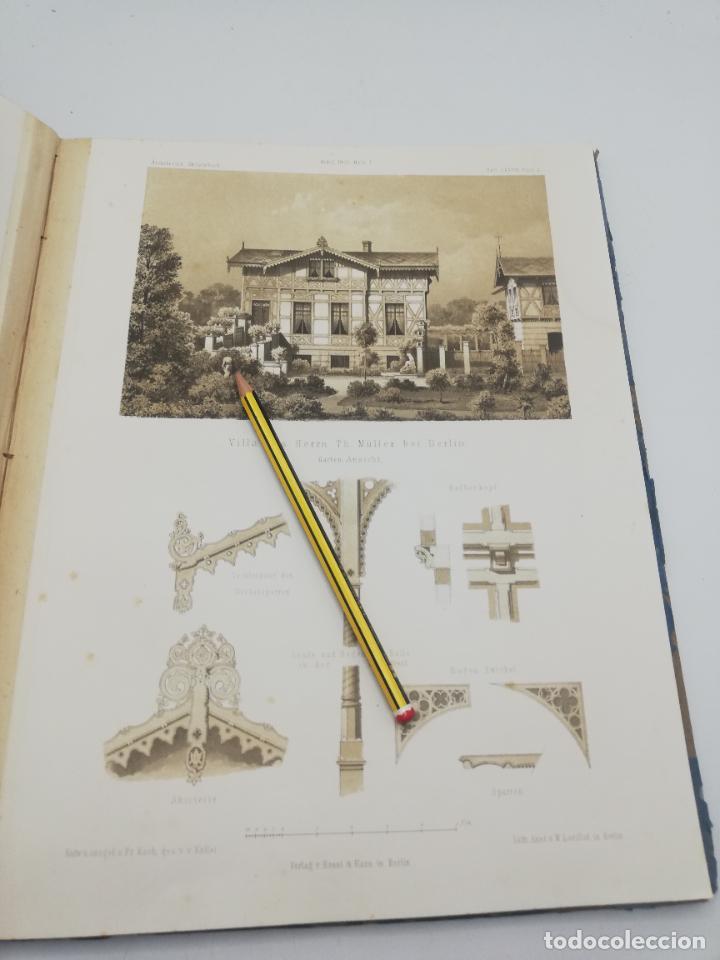 Libros antiguos: L´ARCHITECTURE ALLEMANDE AU XIX SIECLE. RECUELL DE MASIONS DE VILLE ET DE CAMPAGNE. 9 TOMOS.VER.LEER - Foto 254 - 267903714