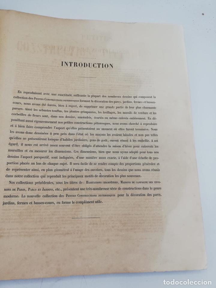 Libros antiguos: PETITES CONSTRUCTIONS PITTORESQUES POR LA DECORATIONS PARCS, JARDINS, FERMES ET BASSES-COURS - Foto 4 - 268022319