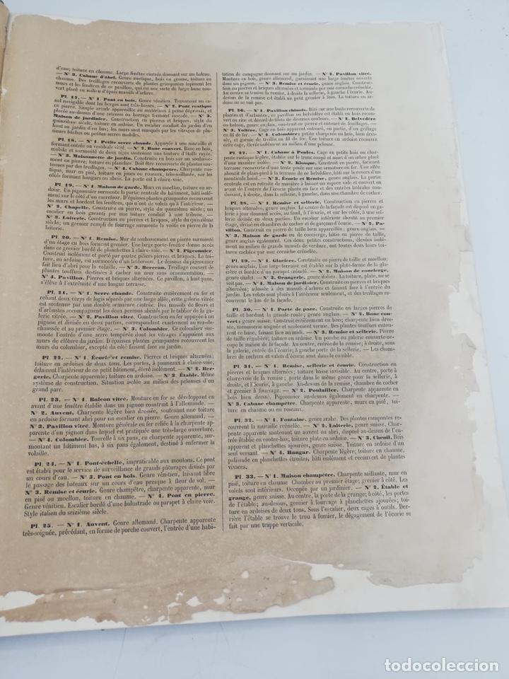 Libros antiguos: PETITES CONSTRUCTIONS PITTORESQUES POR LA DECORATIONS PARCS, JARDINS, FERMES ET BASSES-COURS - Foto 5 - 268022319