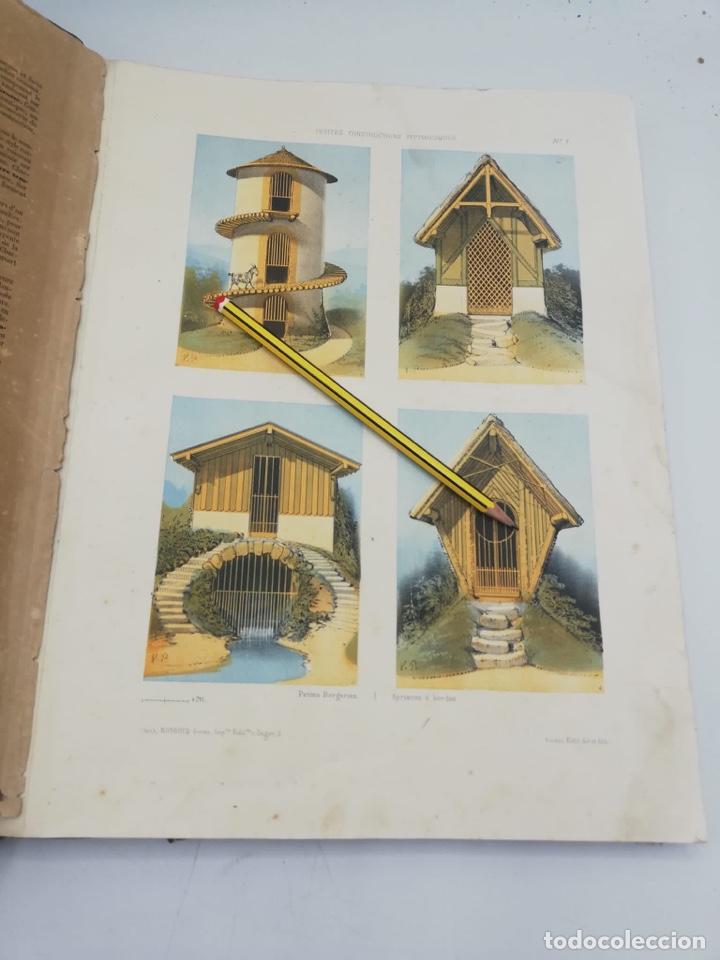 Libros antiguos: PETITES CONSTRUCTIONS PITTORESQUES POR LA DECORATIONS PARCS, JARDINS, FERMES ET BASSES-COURS - Foto 6 - 268022319