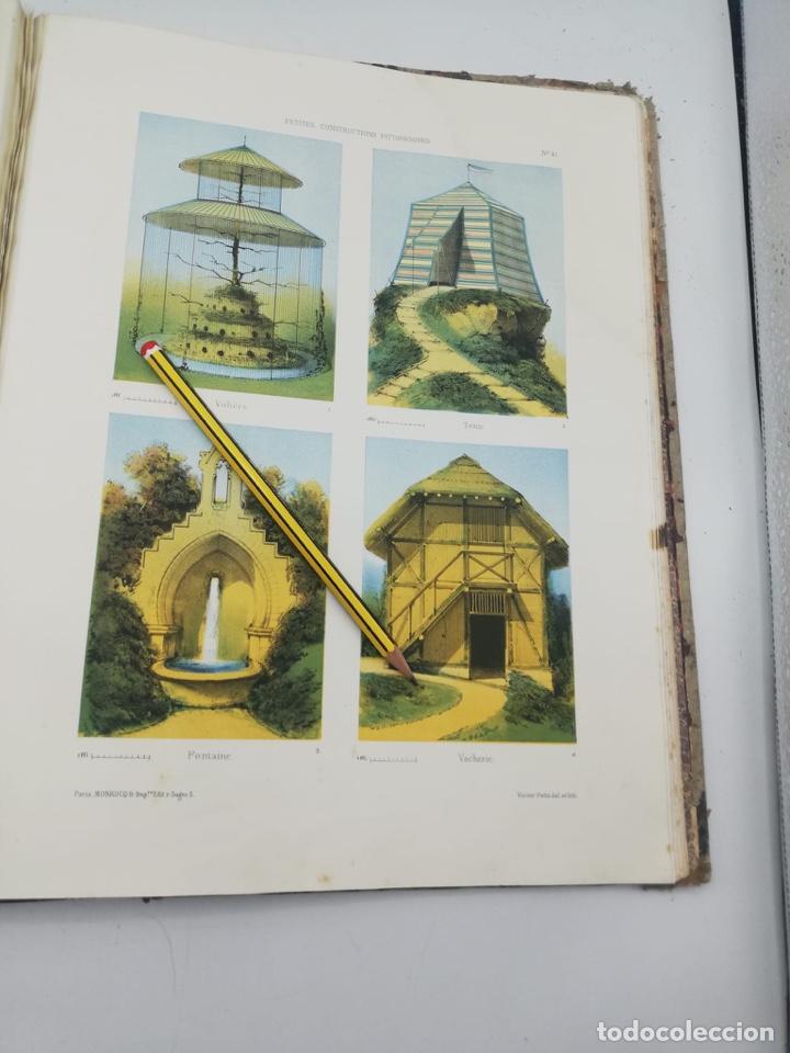 Libros antiguos: PETITES CONSTRUCTIONS PITTORESQUES POR LA DECORATIONS PARCS, JARDINS, FERMES ET BASSES-COURS - Foto 13 - 268022319