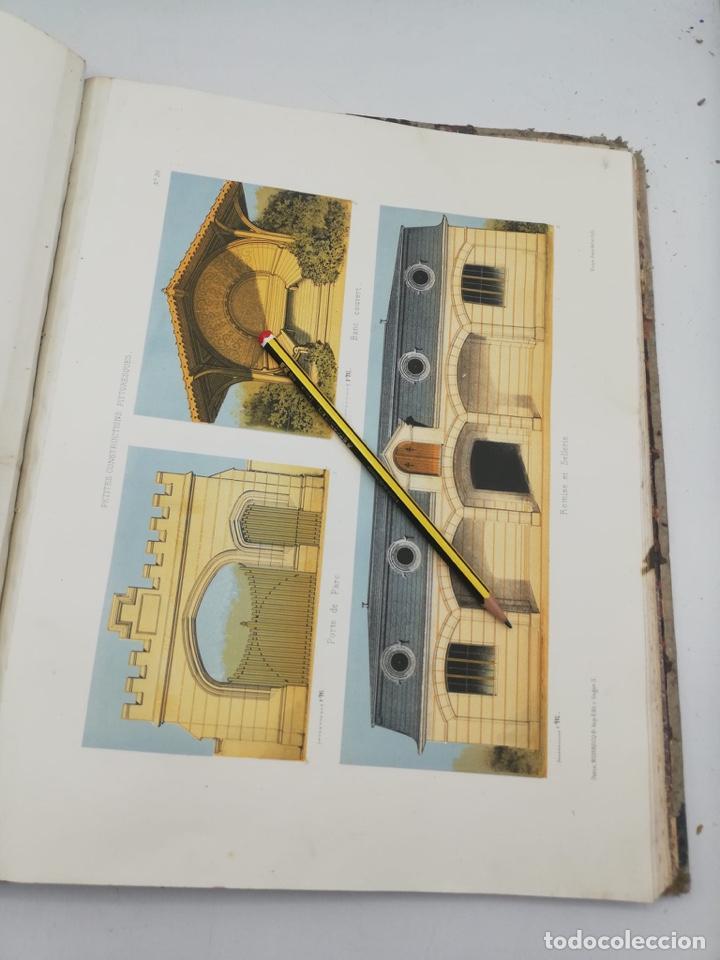 Libros antiguos: PETITES CONSTRUCTIONS PITTORESQUES POR LA DECORATIONS PARCS, JARDINS, FERMES ET BASSES-COURS - Foto 20 - 268022319