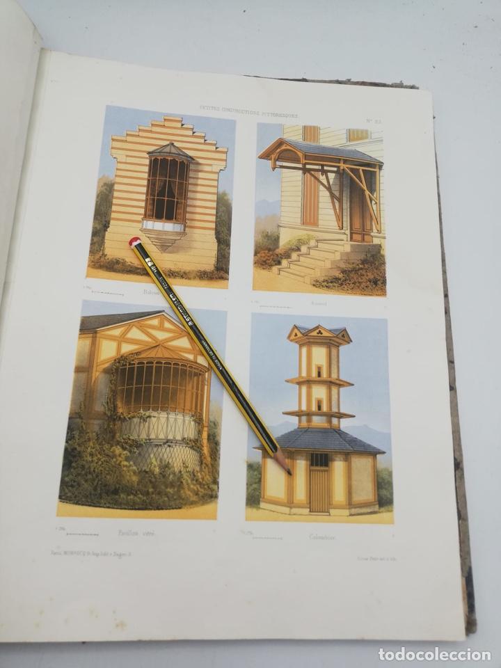 Libros antiguos: PETITES CONSTRUCTIONS PITTORESQUES POR LA DECORATIONS PARCS, JARDINS, FERMES ET BASSES-COURS - Foto 21 - 268022319