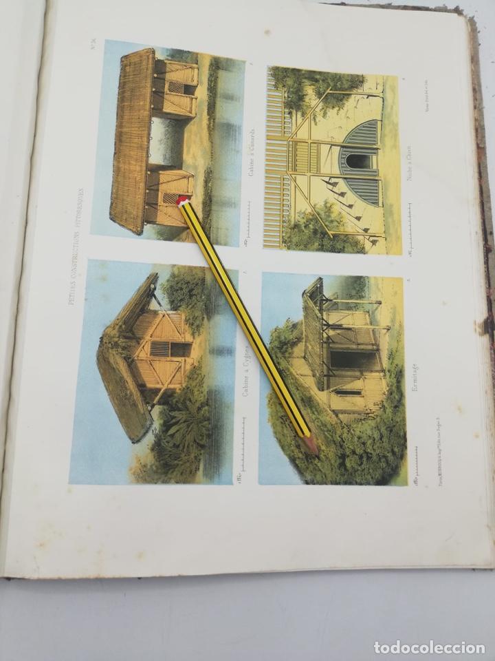 Libros antiguos: PETITES CONSTRUCTIONS PITTORESQUES POR LA DECORATIONS PARCS, JARDINS, FERMES ET BASSES-COURS - Foto 38 - 268022319