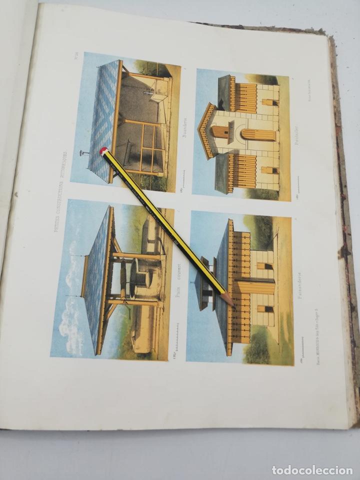 Libros antiguos: PETITES CONSTRUCTIONS PITTORESQUES POR LA DECORATIONS PARCS, JARDINS, FERMES ET BASSES-COURS - Foto 39 - 268022319