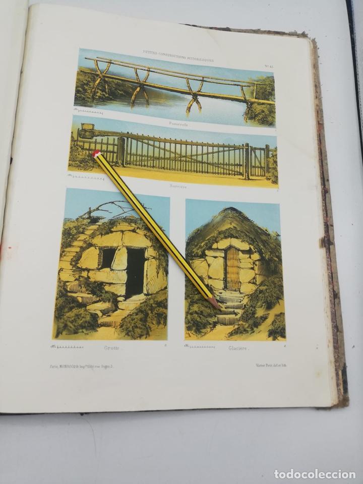 Libros antiguos: PETITES CONSTRUCTIONS PITTORESQUES POR LA DECORATIONS PARCS, JARDINS, FERMES ET BASSES-COURS - Foto 49 - 268022319