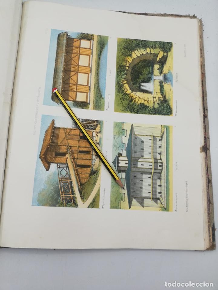 Libros antiguos: PETITES CONSTRUCTIONS PITTORESQUES POR LA DECORATIONS PARCS, JARDINS, FERMES ET BASSES-COURS - Foto 51 - 268022319