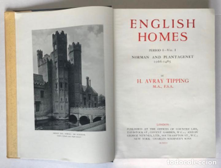 Libros antiguos: ENGLISH HOMES. Period I. Vol. I. NORMAN & PLANTAGENET, 1066-1485. - AVRAY TIPPING, H. - Foto 2 - 268284804