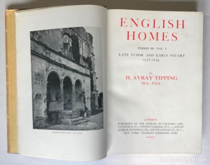 Libros antiguos: ENGLISH HOMES. Period III. Vol. I. LATE TUDOR & EARLY STUART, 1558-1649. - AVRAY TIPPING, H. - Foto 2 - 268289774