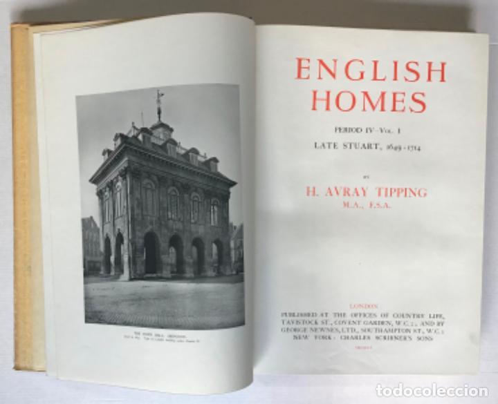 Libros antiguos: ENGLISH HOMES. Period IV. Vol. I. LATE STUART, 1649-1714. - AVRAY TIPPING, H. - Foto 2 - 268292764