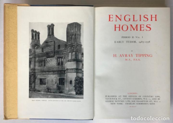 Libros antiguos: ENGLISH HOMES. Period II. Vol. I. EARLY TUDOR, 1485-1558. - AVRAY TIPPING, H. - Foto 2 - 268294819