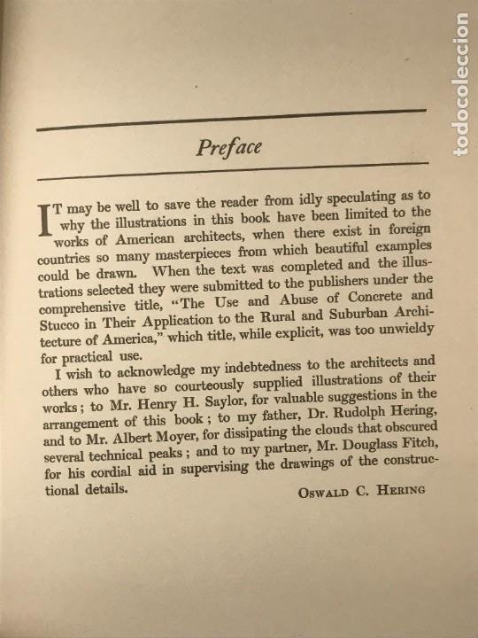 Libros antiguos: CONCRETE & STUCCO HOUSES. OSWALD C HERING . 1912 - Foto 3 - 268730034