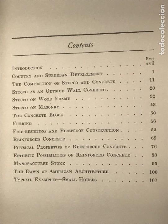 Libros antiguos: CONCRETE & STUCCO HOUSES. OSWALD C HERING . 1912 - Foto 4 - 268730034