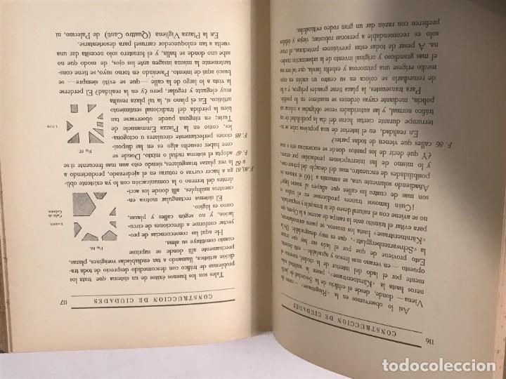 Libros antiguos: CONSTRUCCION DE CIUDADES SEGUN PRINCIPIOS ARTISTICOS CAMILO SITTE 1926 - Foto 4 - 268753019