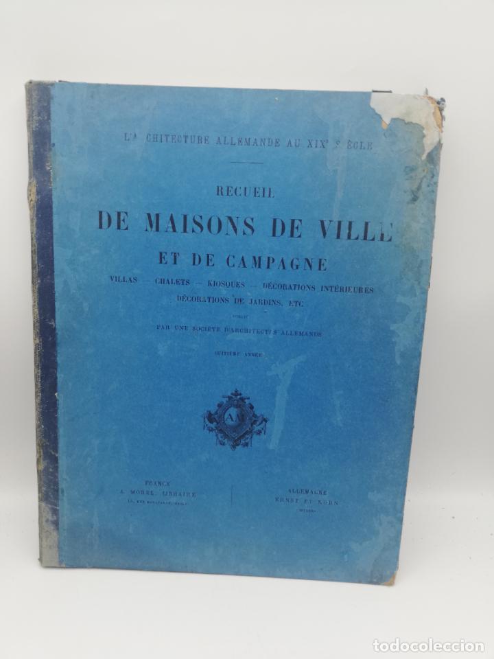 Libros antiguos: L´ARCHITECTURE ALLEMANDE AU XIX SIECLE. RECUELL DE MASIONS DE VILLE ET DE CAMPAGNE. 9 TOMOS.VER.LEER - Foto 283 - 267903714