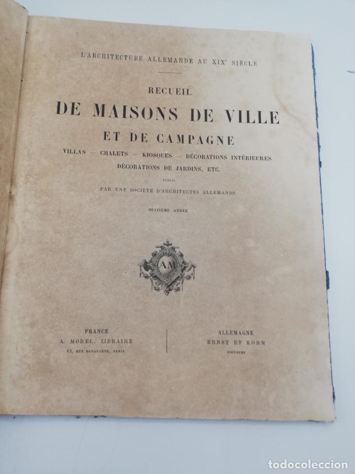 Libros antiguos: L´ARCHITECTURE ALLEMANDE AU XIX SIECLE. RECUELL DE MASIONS DE VILLE ET DE CAMPAGNE. 9 TOMOS.VER.LEER - Foto 285 - 267903714
