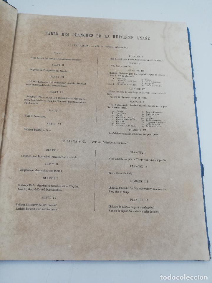 Libros antiguos: L´ARCHITECTURE ALLEMANDE AU XIX SIECLE. RECUELL DE MASIONS DE VILLE ET DE CAMPAGNE. 9 TOMOS.VER.LEER - Foto 286 - 267903714