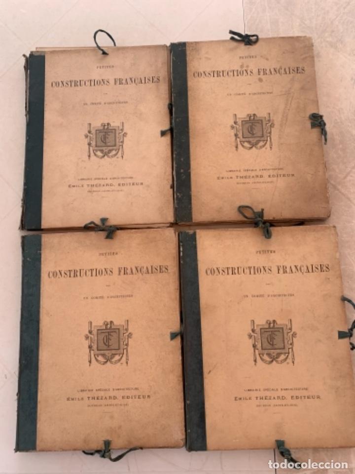 PETITES CONSTRUCTIONES FRANÇAISES EMILE THÉZARD 1885 ARQUITECTURA 4 VOLUMENES (Libros Antiguos, Raros y Curiosos - Bellas artes, ocio y coleccion - Arquitectura)