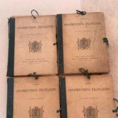 Libros antiguos: PETITES CONSTRUCTIONES FRANÇAISES EMILE THÉZARD 1885 ARQUITECTURA 4 VOLUMENES. Lote 269454553