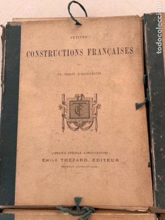 Libros antiguos: PETITES CONSTRUCTIONES FRANÇAISES EMILE THÉZARD 1885 ARQUITECTURA 4 VOLUMENES - Foto 2 - 269454553