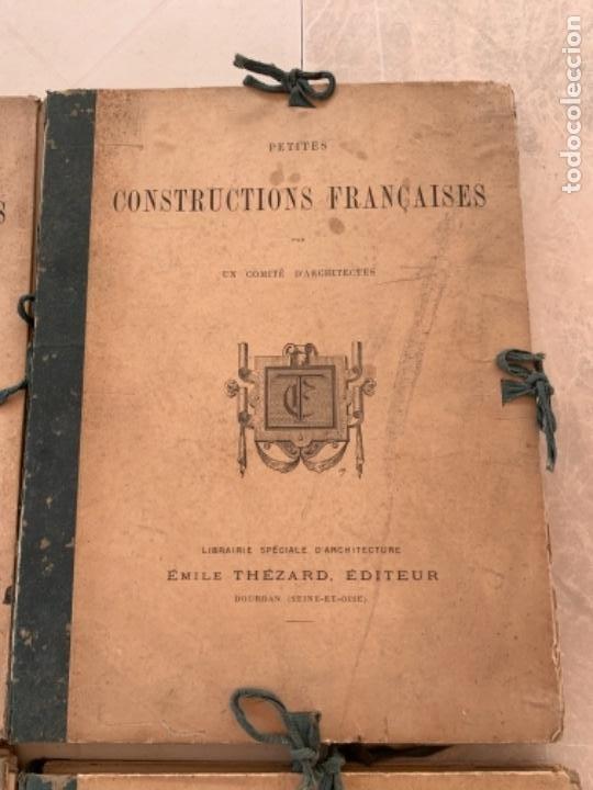 Libros antiguos: PETITES CONSTRUCTIONES FRANÇAISES EMILE THÉZARD 1885 ARQUITECTURA 4 VOLUMENES - Foto 3 - 269454553