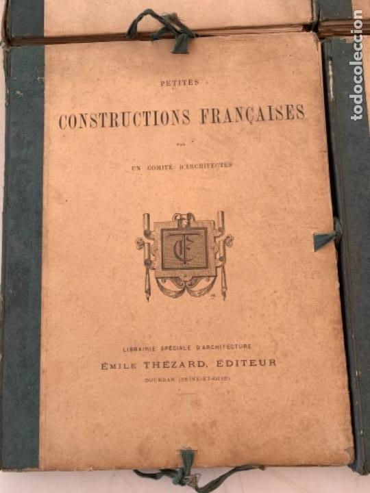 Libros antiguos: PETITES CONSTRUCTIONES FRANÇAISES EMILE THÉZARD 1885 ARQUITECTURA 4 VOLUMENES - Foto 4 - 269454553