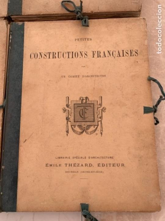 Libros antiguos: PETITES CONSTRUCTIONES FRANÇAISES EMILE THÉZARD 1885 ARQUITECTURA 4 VOLUMENES - Foto 5 - 269454553