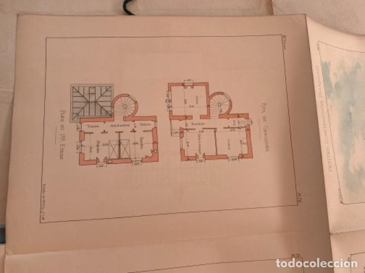 Libros antiguos: PETITES CONSTRUCTIONES FRANÇAISES EMILE THÉZARD 1885 ARQUITECTURA 4 VOLUMENES - Foto 10 - 269454553