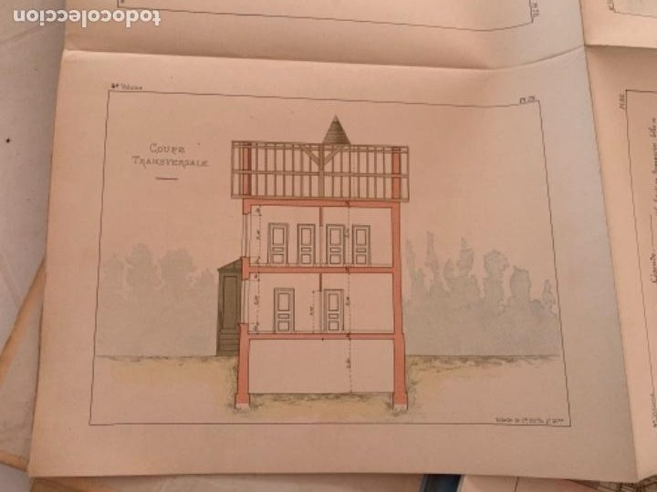 Libros antiguos: PETITES CONSTRUCTIONES FRANÇAISES EMILE THÉZARD 1885 ARQUITECTURA 4 VOLUMENES - Foto 11 - 269454553