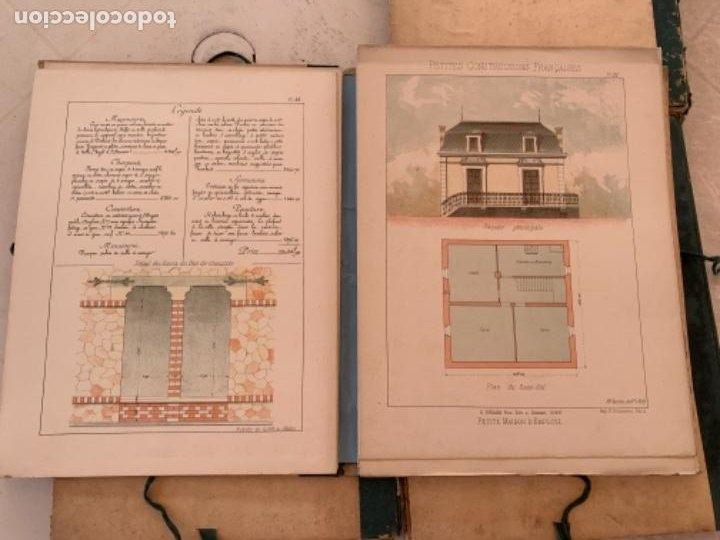 Libros antiguos: PETITES CONSTRUCTIONES FRANÇAISES EMILE THÉZARD 1885 ARQUITECTURA 4 VOLUMENES - Foto 13 - 269454553