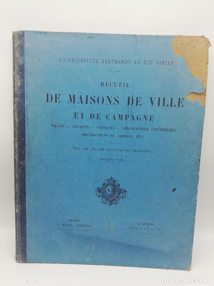 Libros antiguos: L´ARCHITECTURE ALLEMANDE AU XIX SIECLE. RECUELL DE MASIONS DE VILLE ET DE CAMPAGNE. 9 TOMOS.VER.LEER - Foto 319 - 267903714